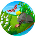 summer insect 2 vector image vector image