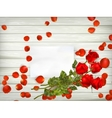 Table with rose petals EPS 10 vector image vector image
