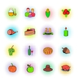 Thanksgiving Day set icons vector image vector image
