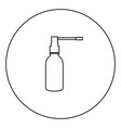 throat spray black icon in circle outline vector image vector image