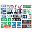 toilet icons and signs wc labels vector image vector image