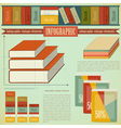 Vintage infographics set - Book vector image