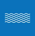 waves icon vector image vector image
