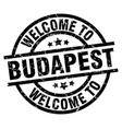 welcome to budapest black stamp vector image vector image