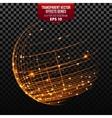 Global Network Wireframe Globe vector image
