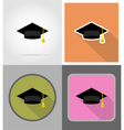 school education flat icons 03 vector image
