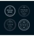 Vintage badges White vector image