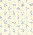 Baby Seamless Wallpaper vector image