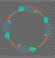 flat botanical wreath vector image