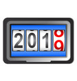 2019 new year counter a change calendar vector image