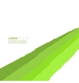 Abstract background of green elements vector image