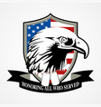 american shield and eagle vector image vector image