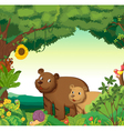 Animals in the forest vector image vector image