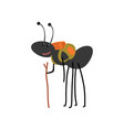 ant travelling with backpack cute cartoon animal vector image vector image