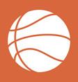 basketball abstract ball vector image vector image