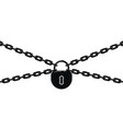 black metal chain and padlock vector image vector image
