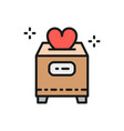 box with donations valentine day charity vector image vector image