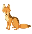 Cartoon smiling Jackal vector image vector image
