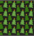 christmas trees seamless pattern bright vector image vector image