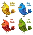 Colorful Funny Birds Set vector image vector image