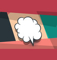 comic book geometric pop art speech bubble vector image vector image