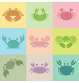 Crab groups vector image vector image