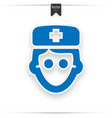 doctor icon blue on white background vector image vector image