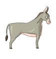 donkey on white background cute cartoon vector image