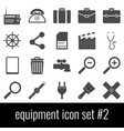 equipment icon set 2 gray icons on white vector image vector image