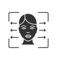 facial recognition reader glyph icon vector image vector image