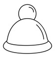 fashion winter hat icon outline style vector image vector image