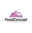 fast food logo concept cooking logo design vector image vector image