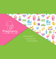 flat childbirth colorful composition vector image