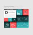 Flat user interface ui infographic template