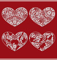 floral hearts for decoration vector image vector image