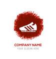 football boot icon - red watercolor circle splash vector image