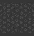 Gambling dices seamless pattern on dark background