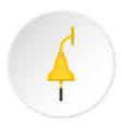 golden ship bell icon circle vector image vector image