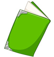 Green book on white vector image vector image