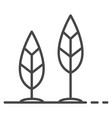 grow up leaf icon outline style vector image vector image