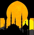 Grunge oriental sunset vector image