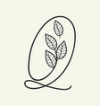 handwritten letter q monogram or logo brand vector image vector image