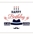 Happy Birthday Label With Hat vector image vector image
