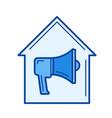 house alarm line icon vector image