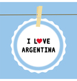 I lOVE ARGENTINA4 vector image vector image