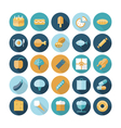 icons flat line food vector image