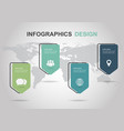 infographic design template with tag banner vector image vector image