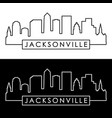 jacksonville skyline linear style editable file vector image vector image