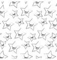 kawaii cartoon stars happy character pattern vector image vector image