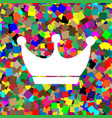 king crown sign white icon on colorful vector image